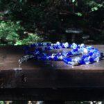Azul & Hand Painted Beaded Lanyard $22.99