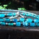 Turquoise Glass Beaded Lanyard $22.99