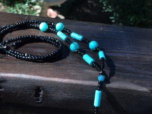 Turquoise & Glass Beaded Lanyard $20.99